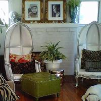 living rooms - Custom, Niko, Hilary White, Liv-Chic, Gold Frames, Living Room, Modern Baroque, French,  Home of Liv-Chic Owner, Hilary white.