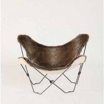 Seating - UrbanOutfitters.com > Faux Fur Butterfly Chair - faux fur, butterfly, chair