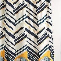 Bath - UrbanOutfitters.com > Zigzag Floral Shower Curtain - zigzag, shower curtain