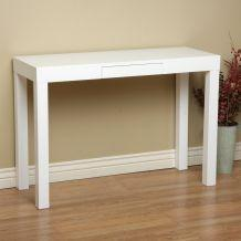 Tables - Lachlan Glossy White Sofa Table | Overstock.com - parsons, console, table