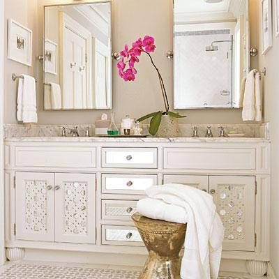 Mirrored Bathroom Vanity - Cottage - bathroom - Southern Living