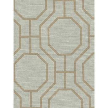 Wallpaper - Discount Decorating | Wallpaper Border Sale | Wholesale Discontinued Wall Coverings - Contemporary-402-64057-Brewster-Kitchen & Bath Resource Vol II-Tan, Green-Kitchen and Bath Resource Vol II, Geometric, Contemporary, Octogon, Pattern-24.89 - wallpaper, brewster, tan, green