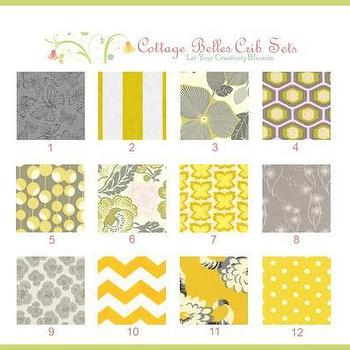 Fabrics - yellow gray nursery - yellow gray nursery
