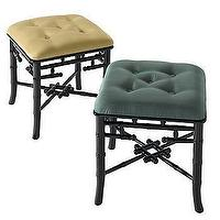 Seating - Black Lacquer Palace Stool ($25 fs) | Gump's San Francisco - lacquer, palace, stools, faux bamboo, stool