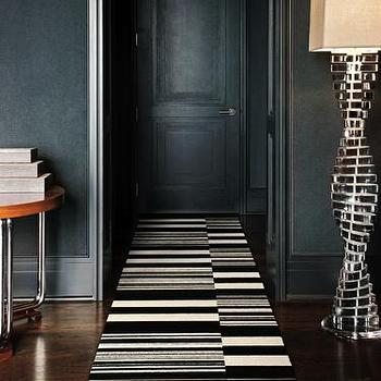 Rugs - Buy Black & White 4 - 2.5' x 13' pre-cut carpet tile rug runner kit at FLOR - white, black, striped, flor, tiles