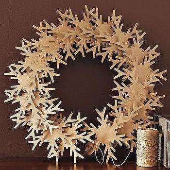 Kraft Snowflake Wreath, west elm