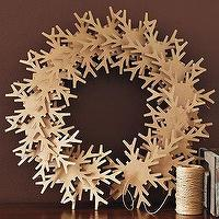 Miscellaneous - Kraft Snowflake Wreath | west elm - cardboard, snowflake, wreath