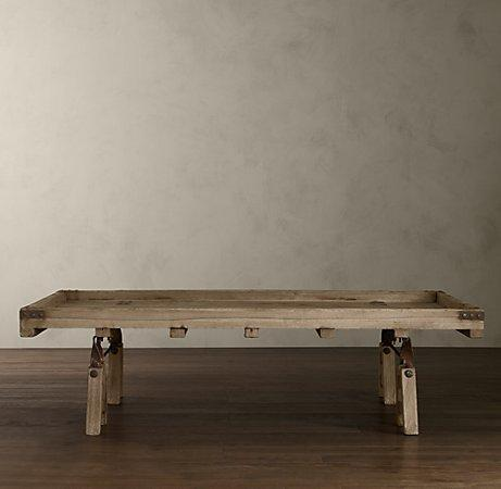 Restoration Hardware Indian Cart Coffee Table Look 4 Less