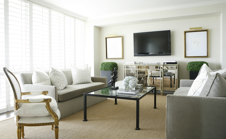Mirrored Media Cabinet - Transitional - living room - Ashley ...