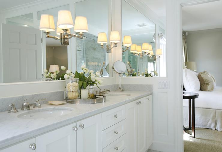 Sconces On Mirror Transitional Bathroom Ashley