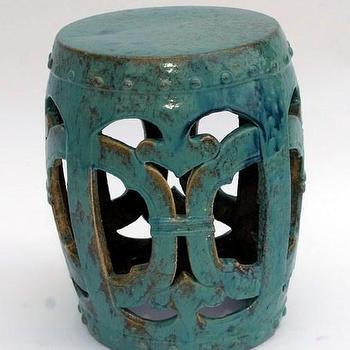 Tables - Garden Stool - Turqoise - garden stool