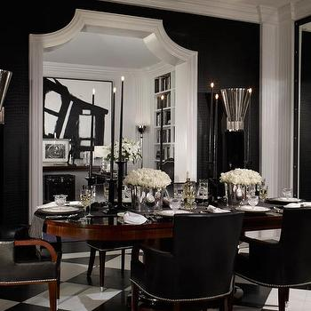 Black Leather Dining Chairs, Contemporary, dining room