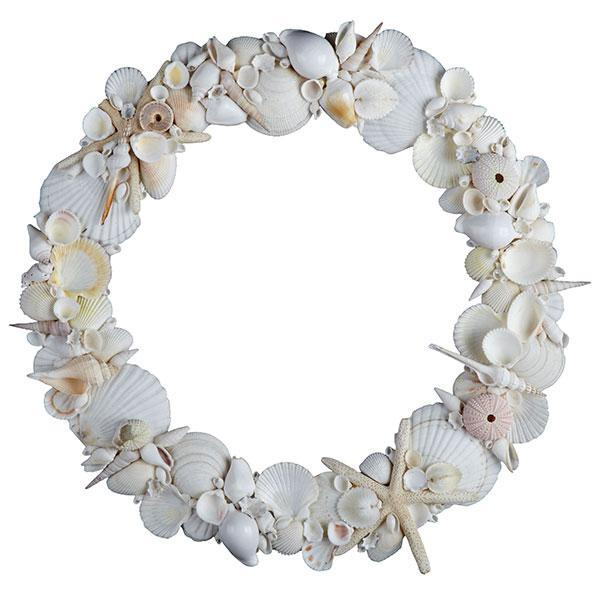 Miscellaneous - Shell Wreath | Home Decor | Wisteria - shells, beach, wreath