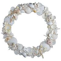 Miscellaneous - Shell Wreath | Home Decor | Wisteria - shells, beach, wreath