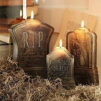 Miscellaneous - Tombstone Candles | Pottery Barn - tombstone, candles