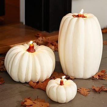 Miscellaneous - White Pumpkin Candles | Pottery Barn - white, pumpkin, candles