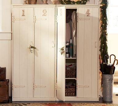 Storage Furniture - Vintage Lockers | Pottery Barn - vintage, lockers