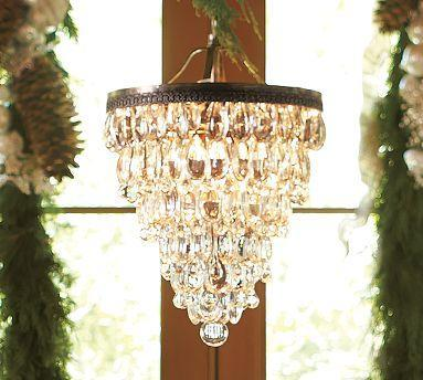 Clarissa Glass Drop Chandelier Pottery Barn