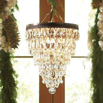 Lighting - Clarissa Glass Drop Chandelier | Pottery Barn - glass, drop, chandelier