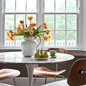 Traditional Home - dining rooms - molded plywood chairs, molded plywood dining chairs, saarinen dining table, round saarinen dining table, marble saarinen dining table, Saarinen Dining Table,