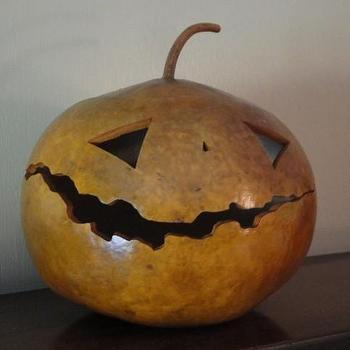 Miscellaneous - Jack o Lantern Gourd by AKHart on Etsy - jack o lantern, gourd, halloween
