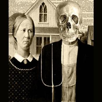 American Gothic The Farmers Wife Halloween by lunaclaydesign