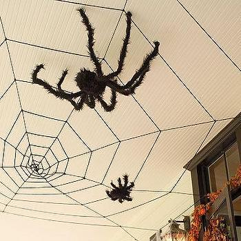 Miscellaneous - Ceiling Web & Fuzzy Spiders | Pottery Barn Kids - halloween, decor, decorations, spider web
