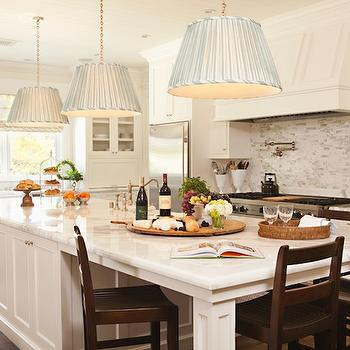 Pleated Pendants, Transitional, kitchen, Thornton Designs