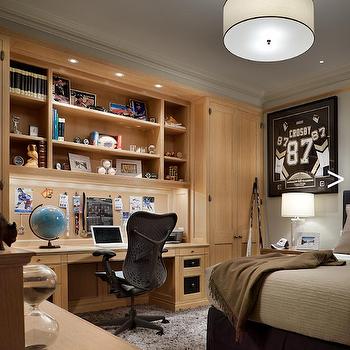 Kids Built In Desk, Traditional, boy's room, Cullman & Kravis