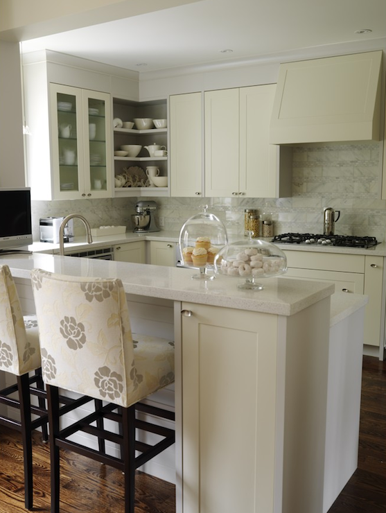 Ivory KItchen Cabinets Transitional Kitchen ICI Dulux French White Sa
