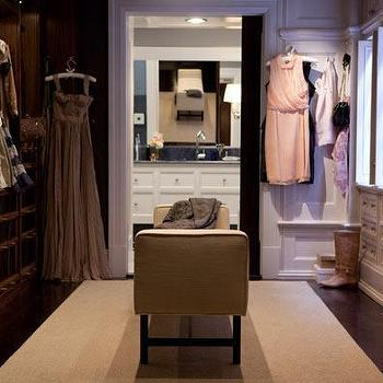 Marks & Frantz - closets: walk in closet, walk through closet, satc closet, sex and the city closet, closet bench,  Carrie's Sex and the City