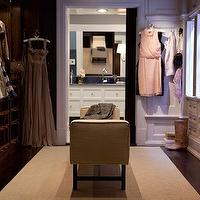 Marks & Frantz - closets - walk in closet, walk through closet, satc closet, sex and the city closet, closet bench,  Carrie's Sex and the City