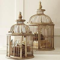 Decor/Accessories - Birdcage | Pottery Barn - wood, birdcages