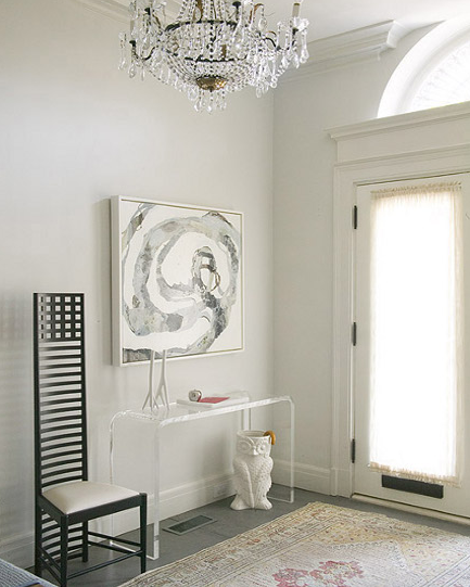 Acrylic Console Table Contemporary Entrance Foyer