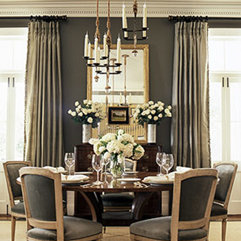 Gray Rooms, French, dining room, BHG