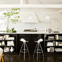 Jessica Helgerson Interior Design - kitchens - island bookshelves, kitchen island bookshelves, island bookcase, kitchen island bookcase, cookbook shelf, island cookbook shelf, cookbook shelves, kitchen island cookbook shelf, two tone kitchen, dark brown kitchen island, espresso kitchen island,