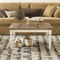 Oval Coffee Table In White Sarita
