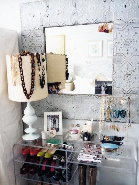 Acrylic Console Table, Contemporary, closet, Sara Gilbane Interiors