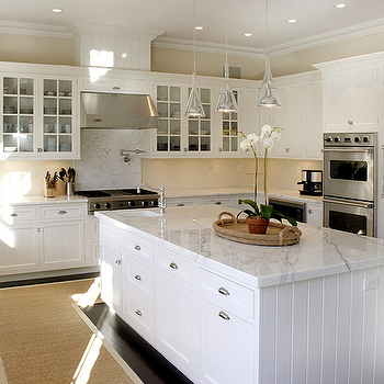 Beadboard Cabinets, Transitional, kitchen, Elsa Soyars