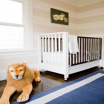 Blue and Beige Nursery, Transitional, nursery, Grant K. Gibson