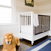 Grant K. Gibson - nurseries - tone on tone, striped, beige sand, walls, modern, white, espresso, crib, blue, rug, striped nursery, striped nursery walls, tan striped walls, tan striped nursery, tan striped nursery walls, white and tan striped walls, white and tan striped nursery, white and tan striped nursery walls, blue and beige nursery,