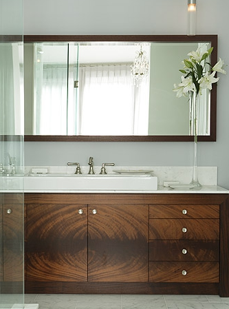 Veneer Bathroom Cabinets - Contemporary - bathroom - Sarah ...