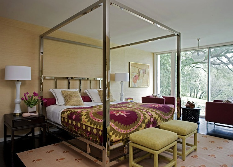 Chrome Canopy Bed Contemporary Bedroom Angie Hranowski