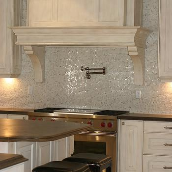 kitchens - Downsview cabinetry, mosaic, marble, limestone, kitchen, potfiller, custom, limestone counters, limestone countertops,  Designed by