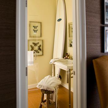 Surfboard Decor, Cottage, bathroom, Philip Gorrivan Design