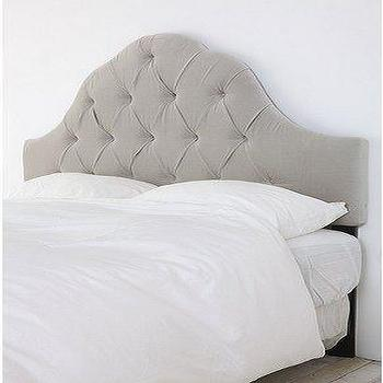 UrbanOutfitters.com > Velvet Tufted Headboard-Light Grey