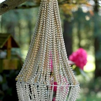 Lighting - Make a Beaded Chandelier | Dollar Store Crafts - beaded, chandelier, diy