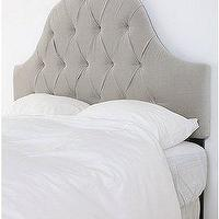 Beds/Headboards - UrbanOutfitters.com &gt; Velvet Tufted Headboard-Light Grey - gray headboard, gray headboard, velvet tufted headboard, gray tufted headboard, gray tufted headboard