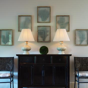 Framed Sea Fan Coral, Cottage, entrance/foyer, Ken Gemes Interiors