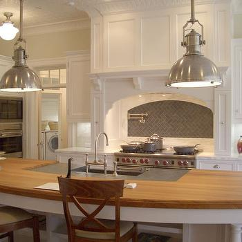 Curved KItchen Island, Transitional, kitchen, Giannetti Home